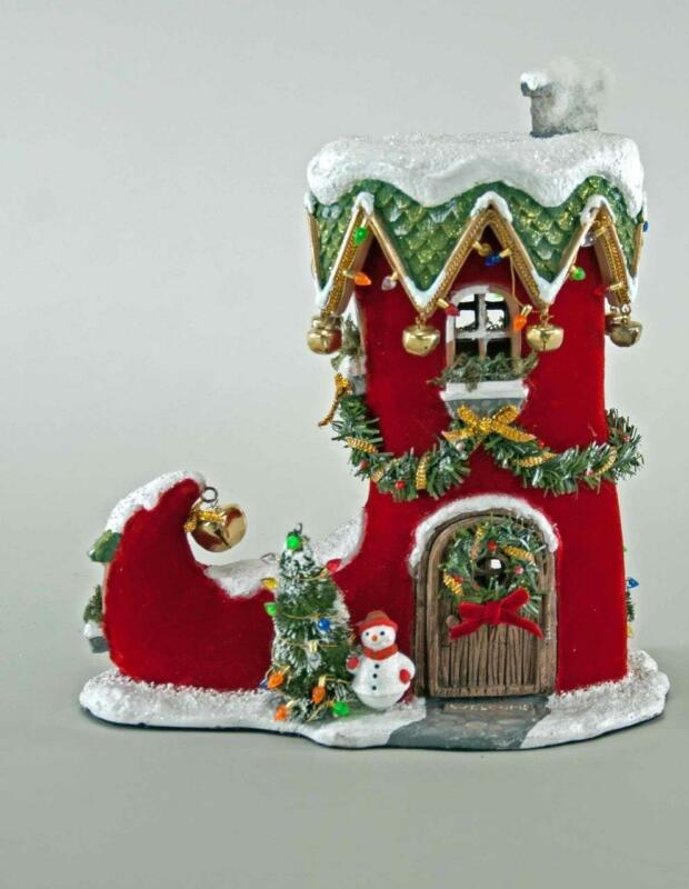 Katherine's Collection - Holiday Elf Boot - Christmas Village House - 28-828326