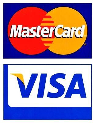 Visa Mastercard Credit Card Logo Decal Sticker - Visamastercard Dual Sided