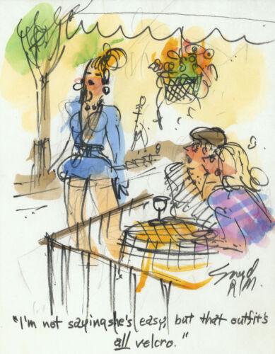 Doug Sneyd Signed Original Art Playboy Gag Rough Sketch ~ Easy Off Outfit