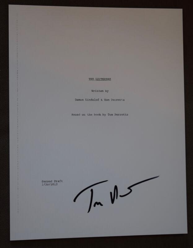 Tom Perrotta Author Signed Autographed The Leftovers  Full TV Pilot Script