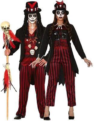 Couples Ladies & Mens Voodoo Spooky Horror Halloween Fancy Dress Costume