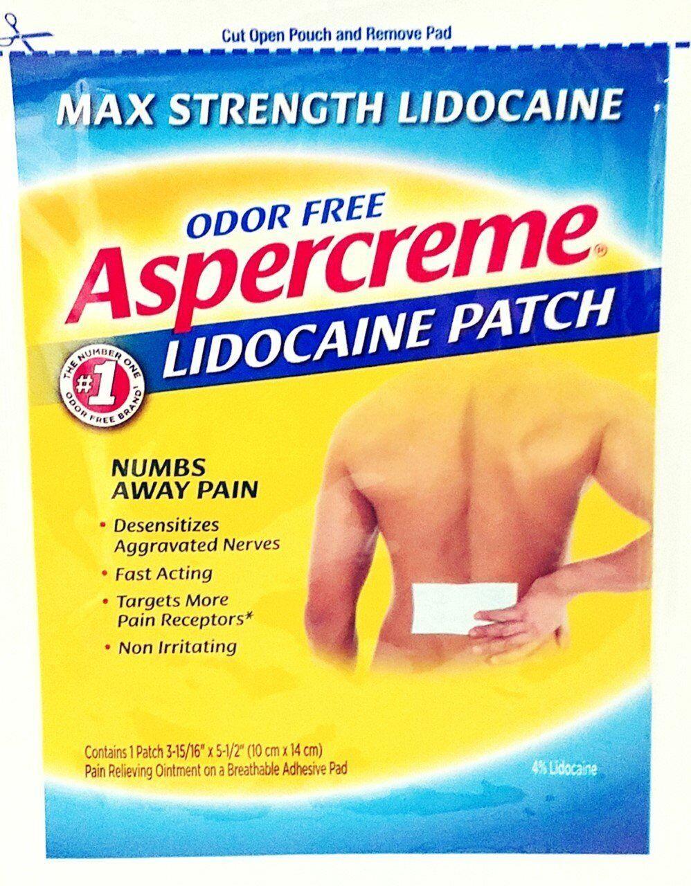 Chattem Aspercreme Lidocream Patch, 12 Count