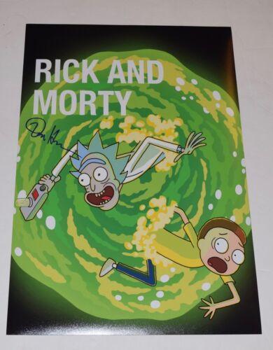 Dan Harmon Signed Autographed 12x18 Poster Photo RICK & MORTY Creator COA