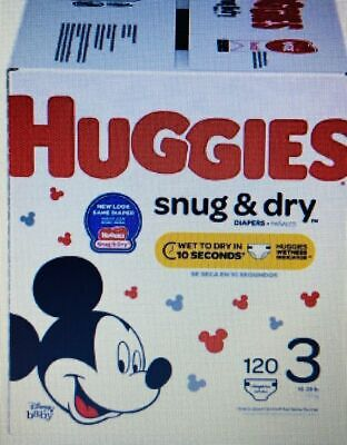 Huggies Snug and Dry diapers size 3 120 count
