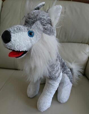Huskey Dog (Siberian Huskey Malamute Dog Stuffed Animal Gray White Plush - Allentown 16