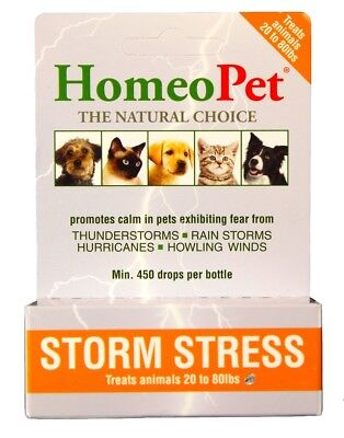 HomeoPet Storm Stress for Dogs [21-80 lbs] (15 mL)