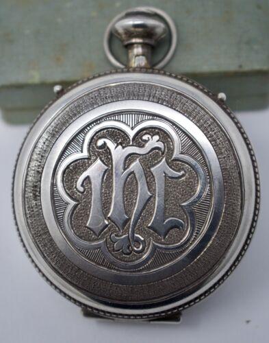 Antique Gorham Sterling Silver & Gilt Communion Host Eucharist Case Pyx