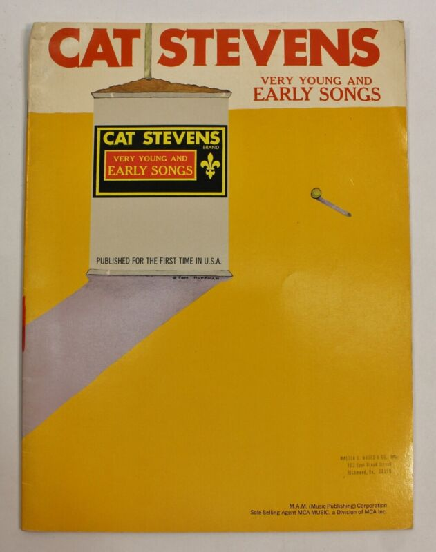 Cat Stevens Very Young Early Sheet Rock Music Song Book Notes Piano Guitar