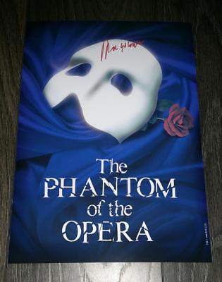 """THE PHANTOM OF THE OPERA PP SIGNED PHOTO POSTER 12""""X8"""" A4 ANDREW LLYOD WEBBER"""