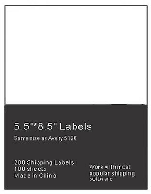1000 Self Adhesive Shipping Labels 2 Per Sheet 8 5 X 5 5   Ebay Ups Usps 5126