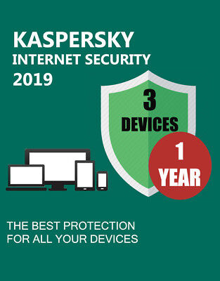 KASPERSKY INTERNET SECURITY 2019 3 DEVICES PC 1 YEAR GENUINE CODE &OFFICIAL LINK segunda mano  Embacar hacia Argentina