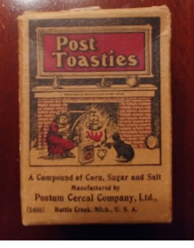 Post Toasties Early Cereal Box Single Serving Size