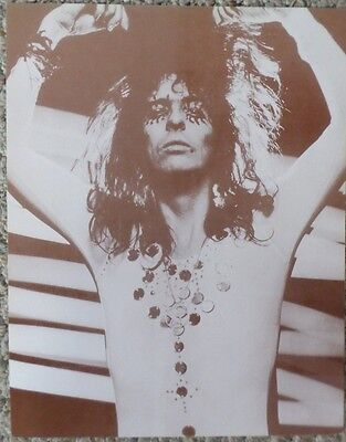 """Alice Cooper in """"Welcome to my Nightmare"""" On Stage Sepia Poster"""