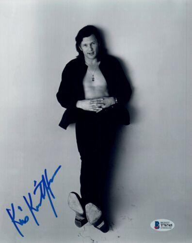 Kris Kristofferson Signed 8x10 Photo The Highwaymen A Star Is Born Beckett COA
