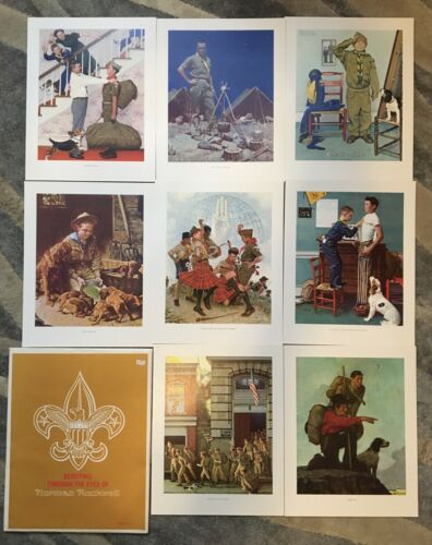 VINTAGE SCOUTING THROUGH THE EYES OF NORMAN ROCKWELL II 8 OUT OF 10 PRINTS SRS-4