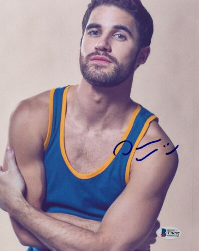 Darren Criss Signed Autograph 8x10 Photo Hollywood Glee Actor Beckett BAS COA