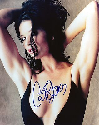 CATHERINE ZETA-JONES SIGNED 8X10 COLOR PHOTO REPRINT GORGEOUS FREE S&H
