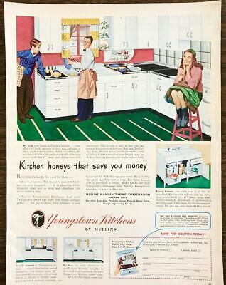 1947 Youngstown Kitchens Warren OH Print Ad Kitchen Honeys That Save U Money