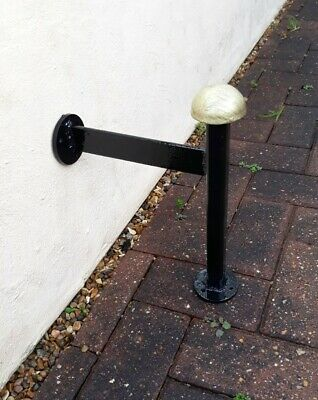 Wall Mounted,Victorian Style Boot Scraper Wrought Iron Made In England 2