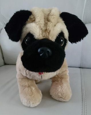 Black Pug Stuffed Animal (Build A Bear Pug Dog Black & Tan Plush Stuffed Animal - 2013 - 15