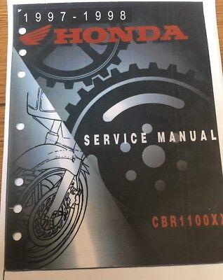 HONDA CBR 1100 XX WORKSHOP SERVICE MANUAL 1997 - 1998 Paper bound copy