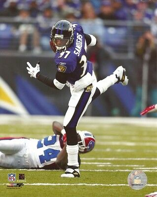 Baltimore Ravens Nfl 8x10 Photo - DEION SANDERS 8x10 Licensed NFL Action Photo BALTIMORE RAVENS #37 HOF Photofile
