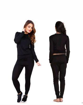 femmes tricot haut poche jogging vêtement de Loisirs Sport Gym Survêtement