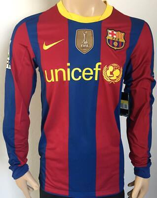 shirt jersey nike Barcelona long sleeve home and away 2010 2011 Messi still new - Barcelona Long Sleeve Away Jersey