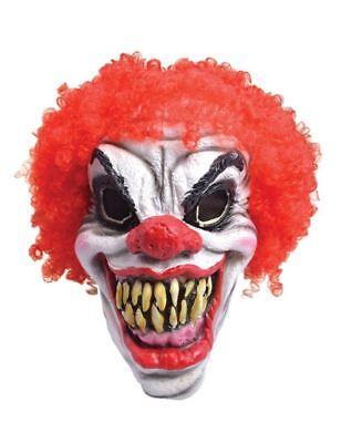 Horror Clown Maske Gruselig Halloween Latex Maskenkostüm ()