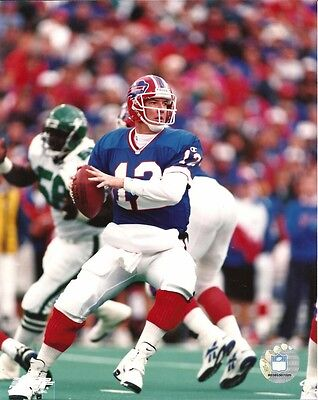 Jim Kelly 8X10 Nfl Action Photo Vs Jets Buffalo Bills  12 Hof Football Photofile