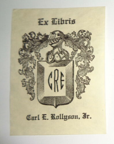 Carl E. Rollyson, Jr.,  author,  Ex Libris Bookplate