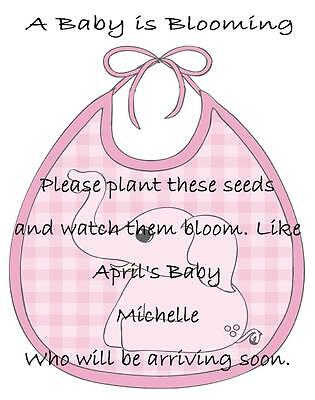 Baby Shower Seed Packets Favors Pink Elephant Set of 30](Baby Shower Stuff)