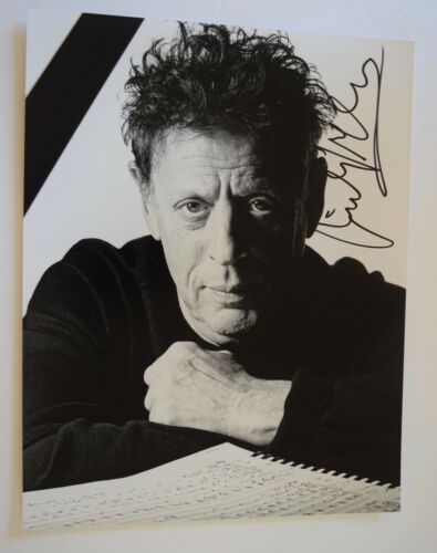 Philip Glass Signed Autographed 11x14 Photo The Philip Glass Ensemble COA VD