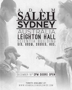 2x Adam Saleh standard show tickets in Sydney on 18 December Osborne Park Stirling Area Preview