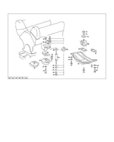 Mercedes Benz Transm Rubber Mount W116 W126 Pt 116 240 04 18