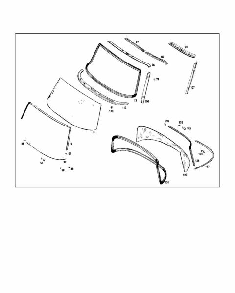Mercedes Front Windscreen Rubber W108 W109 Pt No