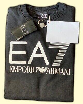 Men's EA7 Armani  Crew Neck Long Sleeve Jumper/Sweater Black Size: Medium Sale !