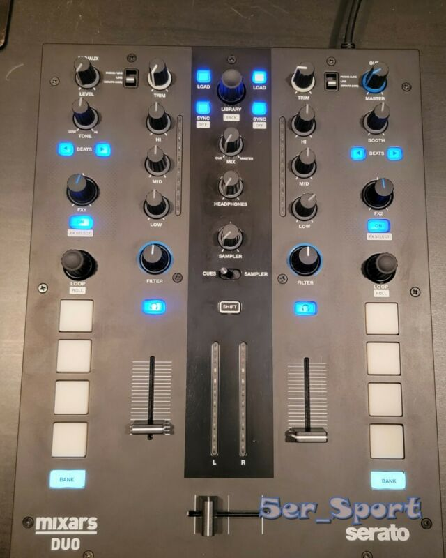 Mixars DUO MKII Professional 2 Channel Battle Mixer for Serato DJ