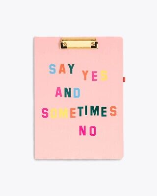 ban.do 'Get It Together' Say Yes and Sometimes No Clipboard Folio with Notepad
