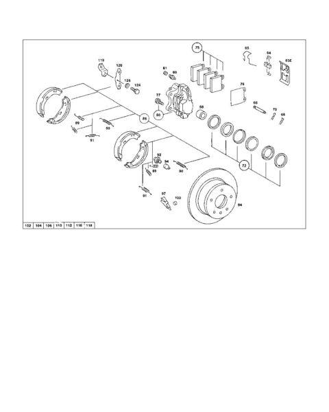 Mercedes R107 116 124 Brake Calliper Repair Kit 001 586 73 43