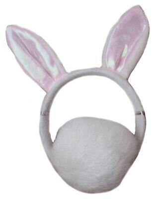 Cute Sexy Bunny Rabbit Headband &Fluffy Round Tail Fancy Dress Costume - Cute Bunny Kostüm