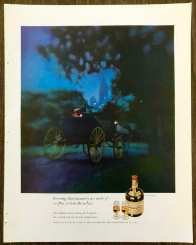 1961 Drambuie Scotch Whisky Based Liqueur PRINT AD Evenings Memories Are Made Of