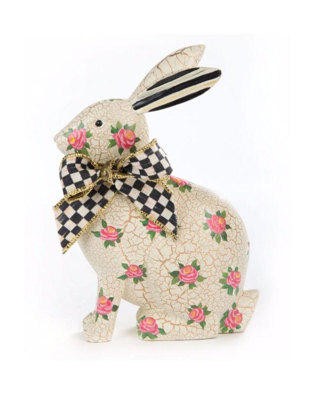 Mackenzie Childs ROSIE RABBIT Bunny w/ Courtly Check Ribbon Figure NEW m20-jl