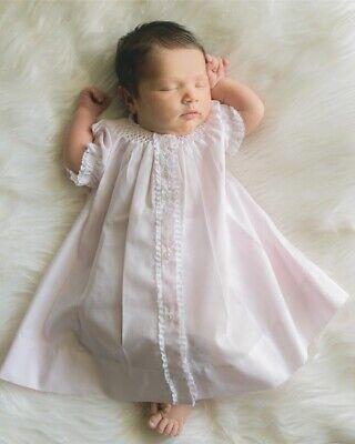NWT Feltman Brothers Pink Smocked Baby Bonnet Newborn Girls 6 9 M Months