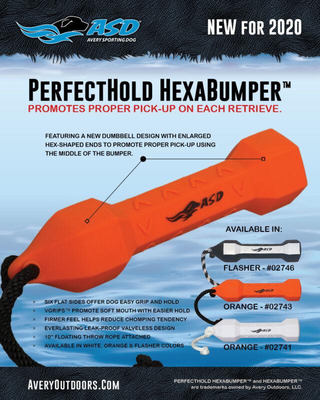 New Avery Sporting Dog Perfect Hold Training Bumper PerfectHold Hexabumper Hexa