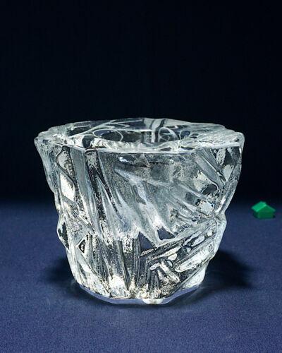 Orrefors ICY Martii Rytkonen Heavy Glass Candle Holder Votive Tealight Sweden