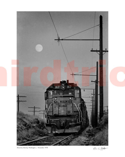 "Milwaukee Road Beverly Moonrise, 1978, 16X20"" photo print by Kooistra"