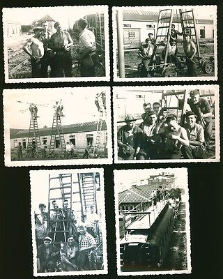 i8410 11x Altes Orig. Foto, Eisenbahn Bau Streckenbau Gleis Arbeiter 50er Jahre