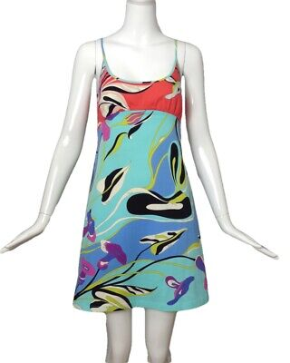 EMILIO PUCCI-1990s Cotton Print Sun Dress, Size-6