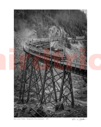 "Milwaukee Road Eastbound Train Mine Creek WA, 16X20"" photo print by Kooistra"